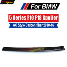 F10 wing Rear Roof spoiler 2010-16 For BMW 5 Series 520i 525i 528i 530i 535i Carbon Fiber M5 AC style