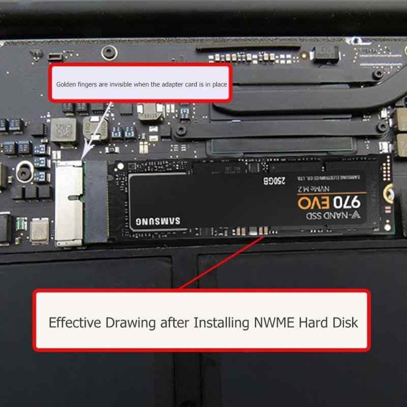 Nvme pcie m.2 m chave ssd adaptador cartão para macbook ar 2013 2014 2015 placa de expansão para macbook pro retina a1398 a1502 a1465