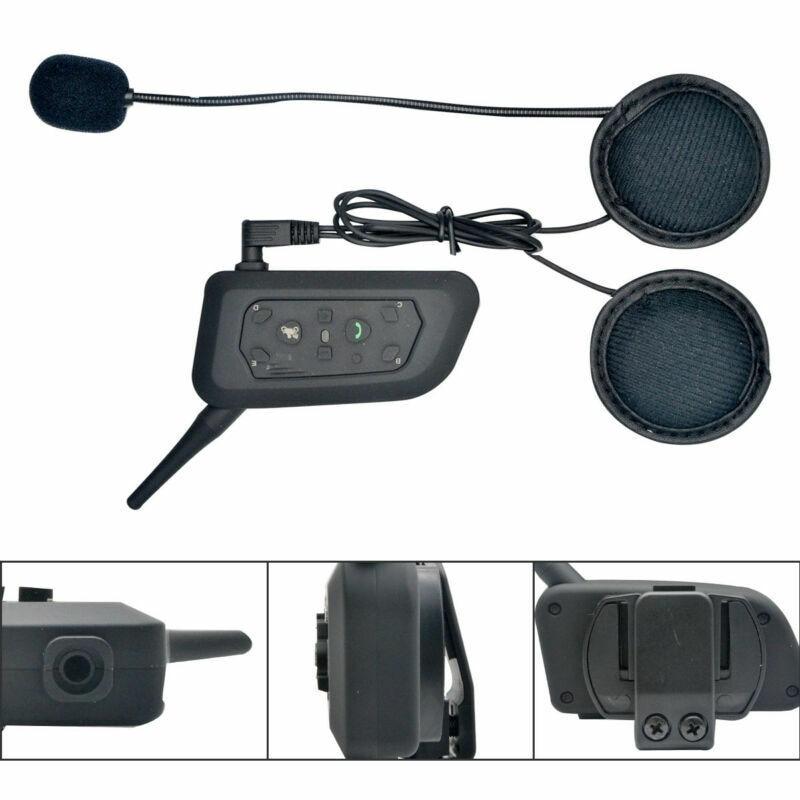 Interphone Motorcycle Helmet Wireless Bluetooth Headset Intercom FM Waterproof Interphone Intercom Headset