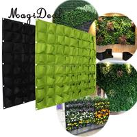 MagiDeal 72 Pockets Hanging Garden Wall Flower Planter Bag Indoor/Outdoor Herb Pot For Home decoration Planters
