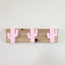Handmade Bedroom Monochrome Cactus Wall Hooks For Children Nordic Nursery Gift Kids Coat Room Hanger Scandinavian