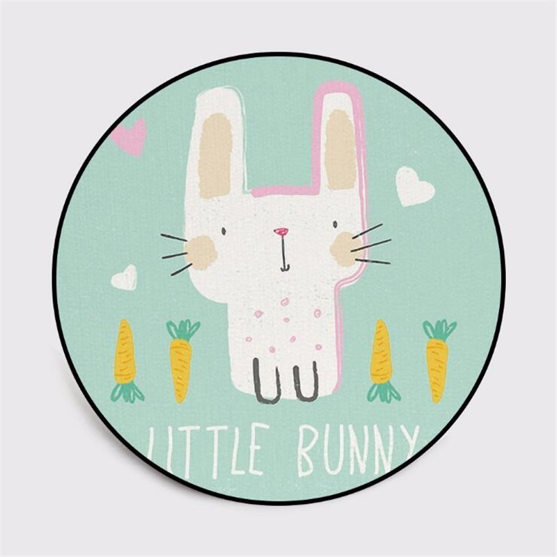 Cute Cartoon Rabbit Bunny Round Carpet Soft Carpets for Living Room Anti-slip Rug Chair Floor Mat for Home Decor Kid Room Gift29