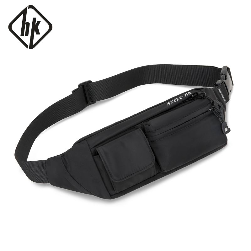 Hk Men Waist Bag Pack Teenager's Travel Phone Pouch For Men Fanny Pack Shoulder Crossbody Bag Wallet For Belt Unisex Hip Bags