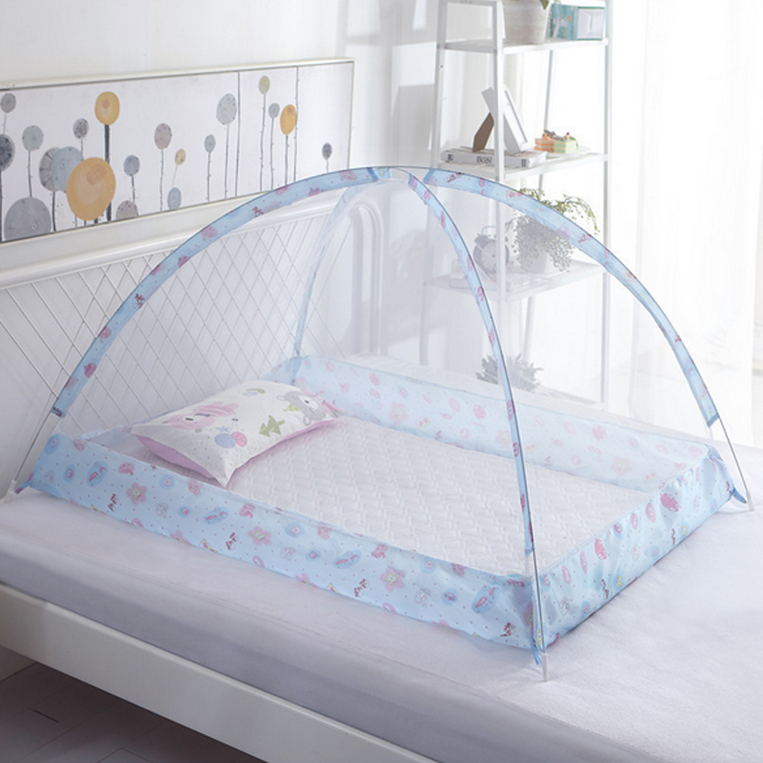 Portable Folding Baby Bed Children Mosquito Net Tent Kids Summer Cradle Bed Crib Sleeping Anti Mosquito Mesh Sleeping Cushion