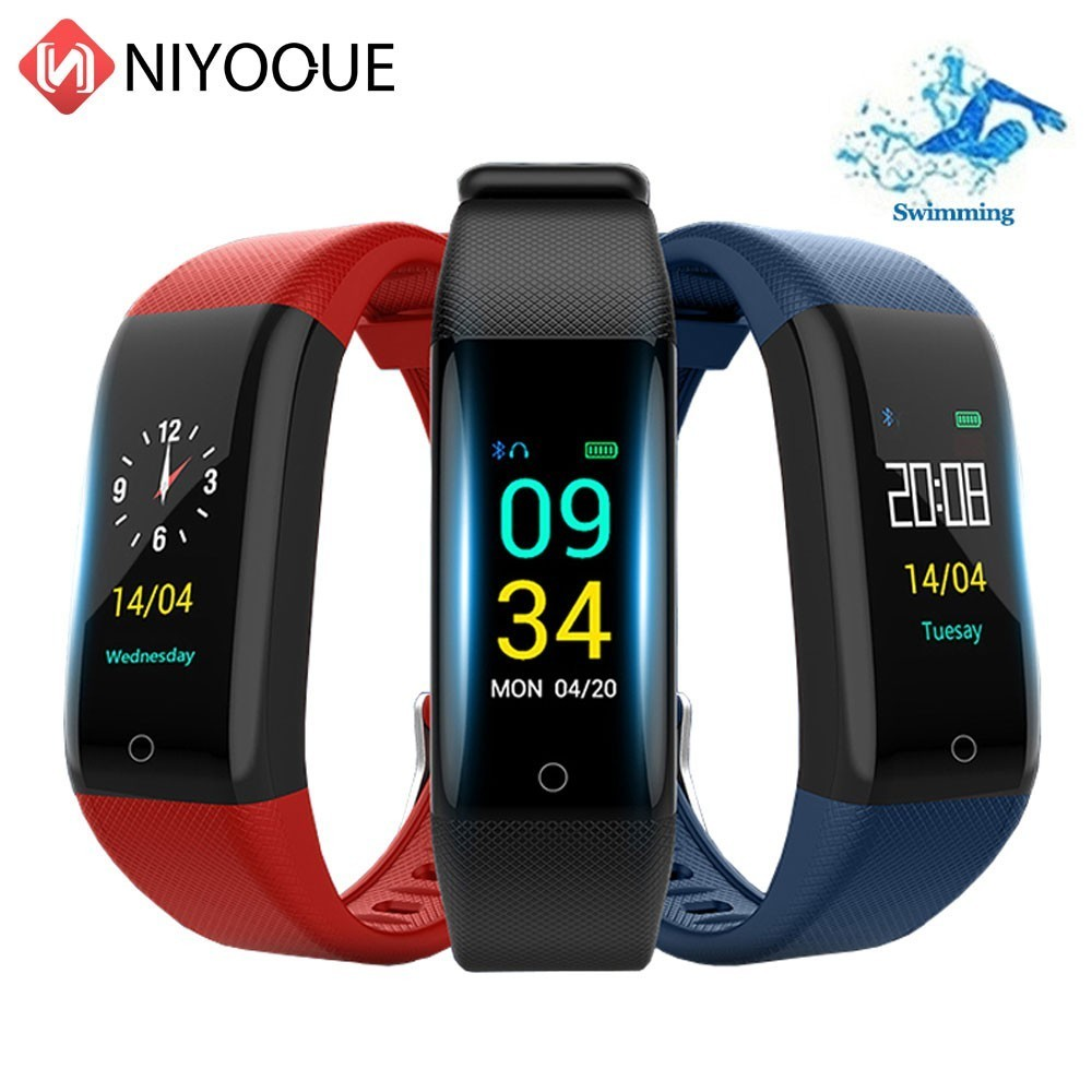 Bluetooth Smart Band Color Screen Bracelet Watch Waterproof Ip68 Pedometer Sport Heart Rate Monitor Fitness Bracelet TrackerBluetooth Smart Band Color Screen Bracelet Watch Waterproof Ip68 Pedometer Sport Heart Rate Monitor Fitness Bracelet Tracker