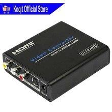 비디오 컨버터 CVBS RCA S Video AV/SV HDMI 4K 스케일러 아날로그 디지털 UHD 4K 업 스케일러 컴포지트 어댑터 HDTV AV HDMI
