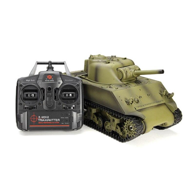 2019 plus récent Heng Long 3898-1 2.4G 1/16 US Sherman M4A3 Tank Radio contrôle bataille réservoir extérieur porte jouets pour enfants cadeaux