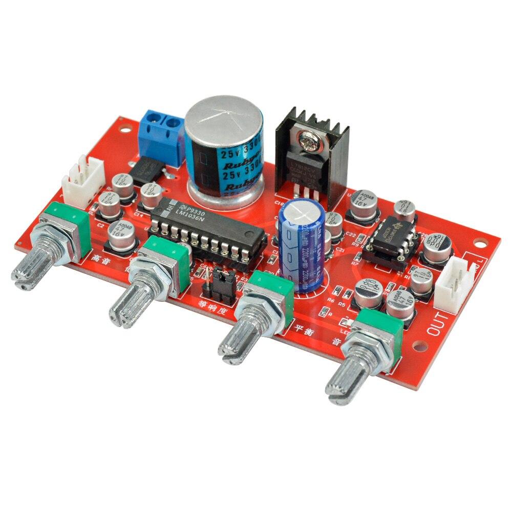 Competente Aiyima Lm1036 + Ne5532 Preamplificatore Amplificatore Treble Bassi Bilanciamento Controllo Del Volume Di Regolazione Bordo Tono Preamplificatore Amp Sola Potenza