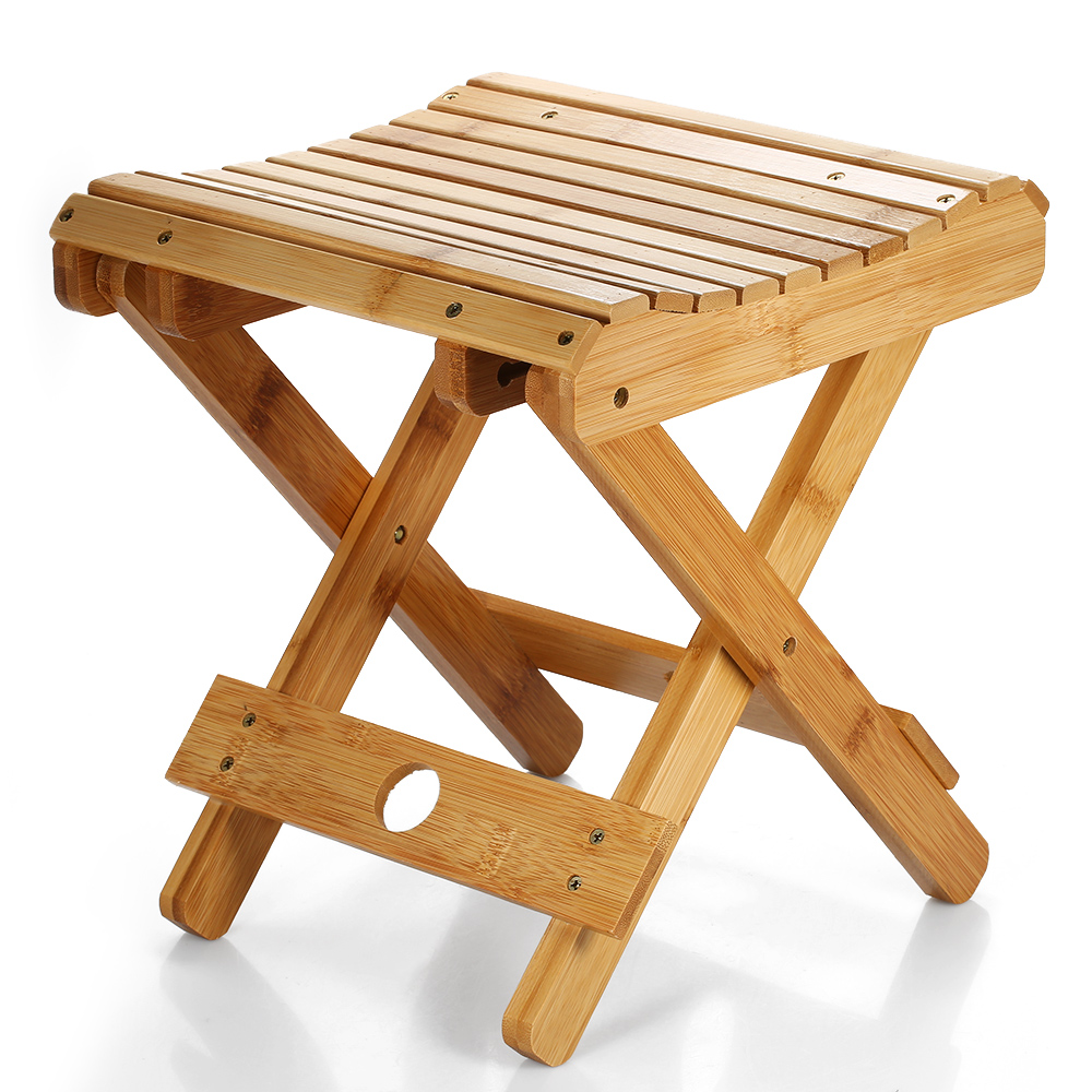 Swell Natural Bamboo Portable Folding Chair Fishing Bbq Folding Stool Collapsible Chair Camping Folding Chair Outdoor Hiking Seat Hot Deal 11 11 Double Spiritservingveterans Wood Chair Design Ideas Spiritservingveteransorg