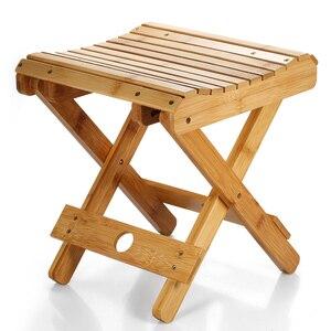 Image 3 - Natuurlijke Bamboe Draagbare Klapstoel Vissen BBQ Vouwen Kruk Inklapbare Stoel Camping Klapstoel Outdoor Wandelen Seat