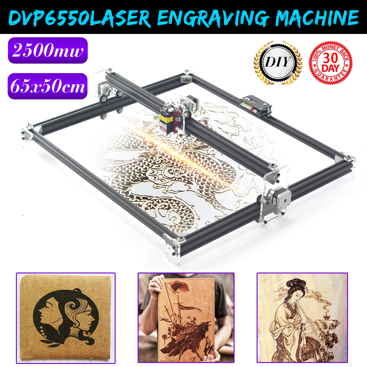 2500MW 65x50cm Laser Engraving Machine Cutting Printer CNC Control LOGO Router CNC Router Best Advanced toys2500MW 65x50cm Laser Engraving Machine Cutting Printer CNC Control LOGO Router CNC Router Best Advanced toys