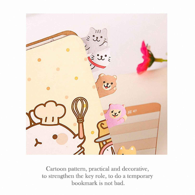 Kawaii DIY Memo Pad Lengket Papers Catatan Kartun Hewan Beruang Anjing Babi Kucing Penguin Stiker Kantor Sekolah Pack 8