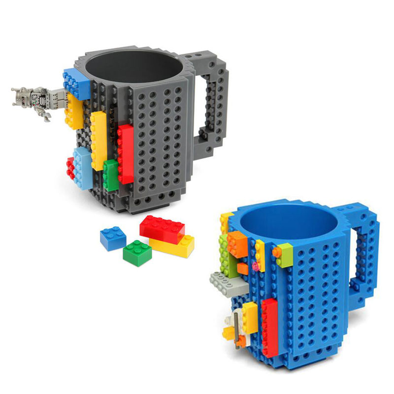 Abrrlo DIY Coffee Mug Creative Building Block Tea Mugs Removable Puzzle Portable Drink Cup Kids Gift