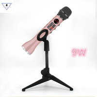 9W Wireless Dynamic Microphone L598 Bluetooth Handheld Karaoke mic Speaker with stands Singing Record for Andriod IOS phone