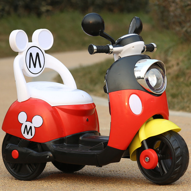 2019 new children  electric toy car men and women children baby three-wheel pedal Mulan battery motorcycle