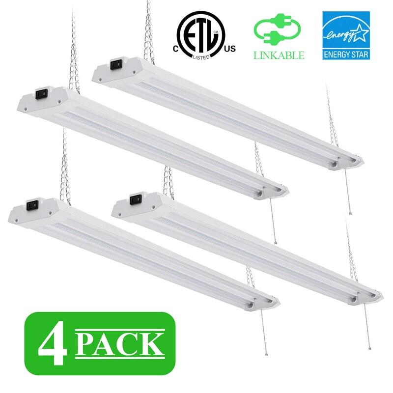 4 pièces 40 W AC 120 V tube LED intégré 1213mm 4ft lampe fluorescente CRI SMD 2835 puce pour magasin mur LED tube magasin lumière Kit