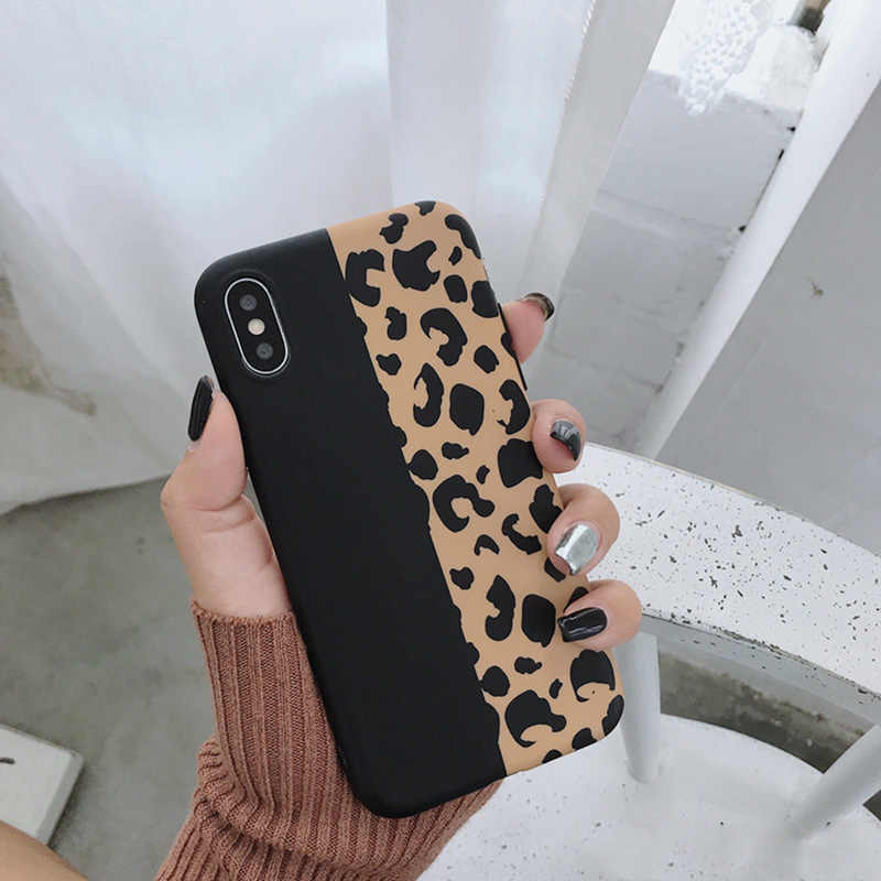 Lovebay Macan Tutul Cetak Ponsel Case PENUTUP UNTUK iPhone X Max XR X 8 7 6 6S Plus 11 Pro mewah Lembut Kembali Kasus Warna-warni Fashion Shell