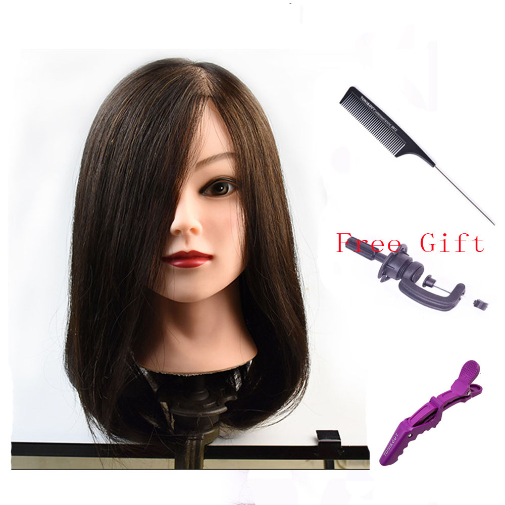 20 Mannequin Head with 100% Real Human Hair Black Doll Head for hair styling Cosmetology Long Hair Free Table Clamp Stand20 Mannequin Head with 100% Real Human Hair Black Doll Head for hair styling Cosmetology Long Hair Free Table Clamp Stand