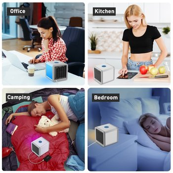 Mini USB Portable Air Conditioner Conditioning Humidifier Purifier 7 Colors Light Desktop Arctic Air Cooler Fan For Home Office 5