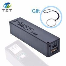 TZT USB Power Bank zestaw etui 18650 ładowarka pudełko DIY Shell Kit czarny dla Arduino