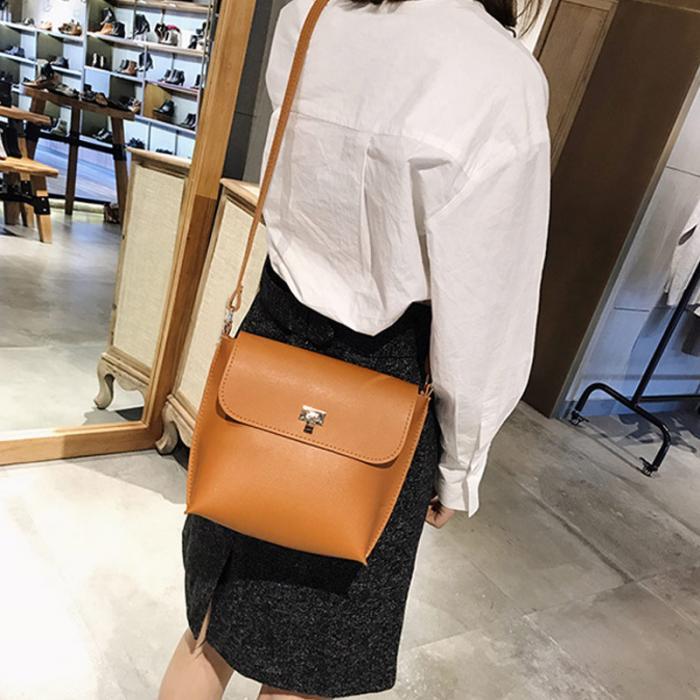 1 Pcs Frauen Dame Schulter Umhängetasche Pu Leder Mode Für Geld Einkaufen Ab @ W3 Jade Weiß