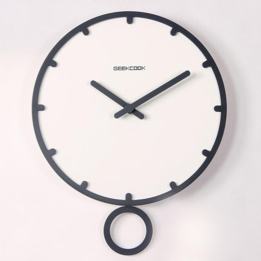 Horloge murale de bande dessinée 14 pouces montres murales décor à la maison horloge numérique mécanisme horloge à Quartz silencieuse européenne moderne 50Q241