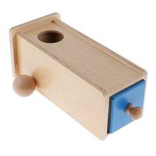 Деревянные Монтессори прямоугольник ящик мяч коробка соответствующие умственного развития игрушечные лошадки развивающие для детей на День Рожде