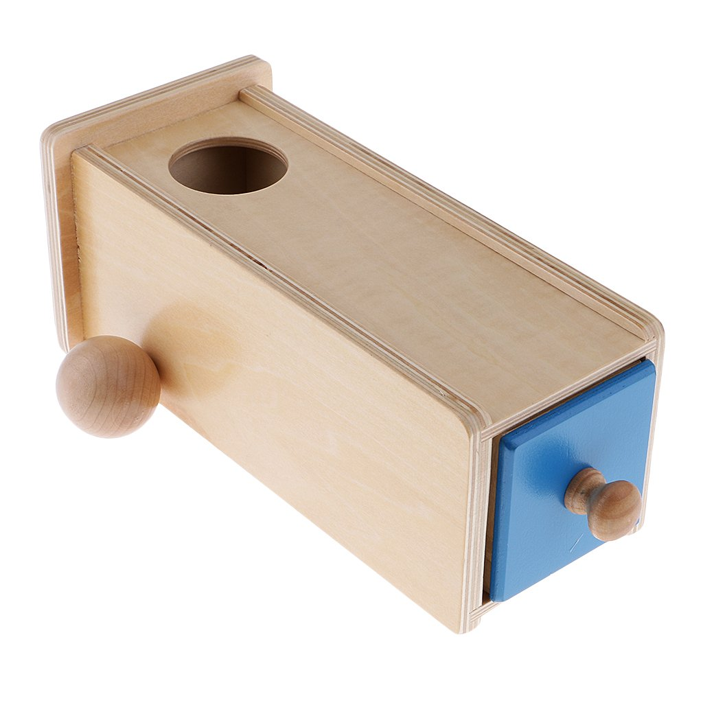 Montessori Wooden Rectangle Drawer Ball Box Matching Intellectual Development Toys Educational for Kids Birthday Christmas Gift