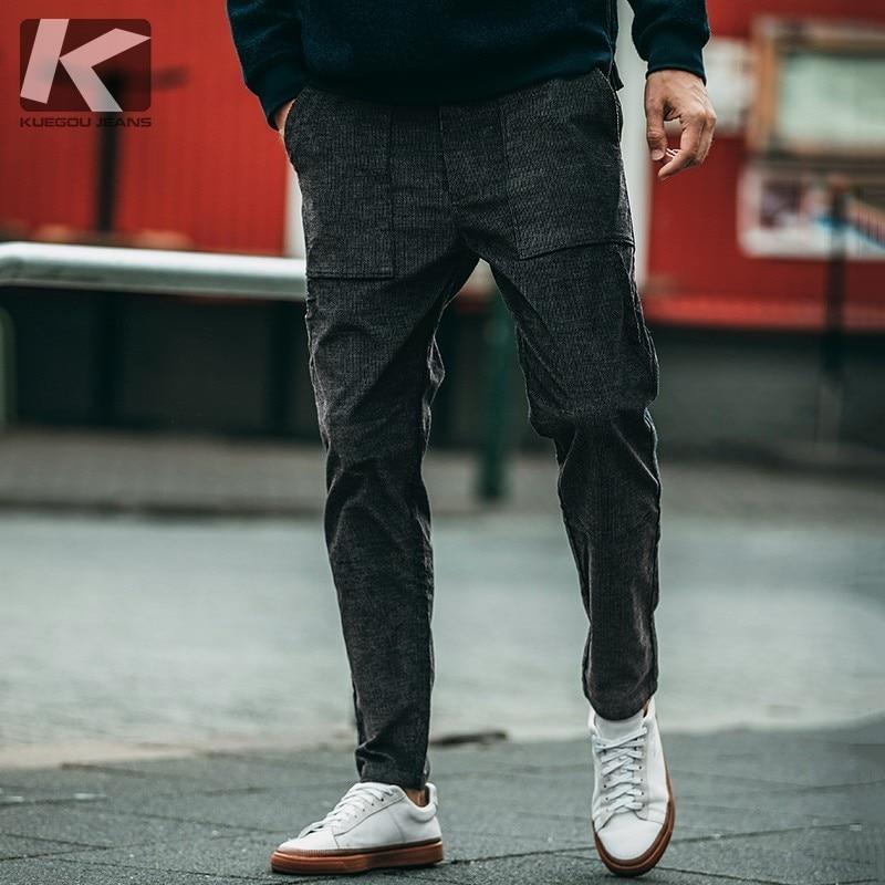 2018 Porter Un Pantalon Velour Homme MVpSzU