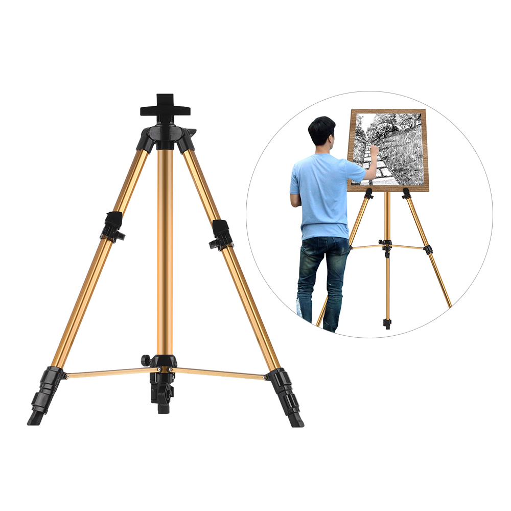 Aluminum Easel Stand Tripod Adjustable Height 19 55 Lightweight Sturdy Field Easel for Painting with Carrying BagEasels   -