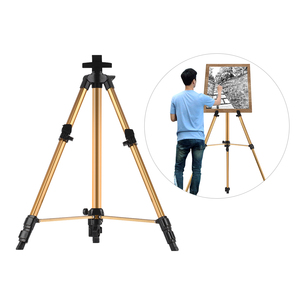 Image 2 - Aluminum Easel Stand Tripod Adjustable Height 19 55 Lightweight Sturdy Field Easel for Painting with Carrying Bag