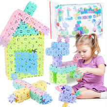 55-105pcs/set Digital Educational Building Blocks Assembly DIY Creative Bricks Sets Wisdom Development Christmas Gift for kids