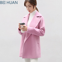 2019 Sale Polyester Full Long Solid Sobretudo Abrigo Mujer New Fabric Overcoat In Autumn And Winter Coat Women Womens Coats