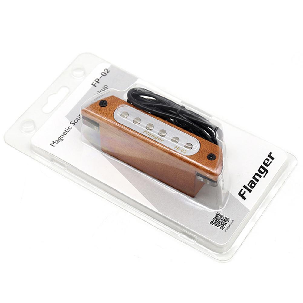 Flanger Acoustic Folk Wood Guitar Sound Hole Pickup Magnetic Guitarra Pickups For 39