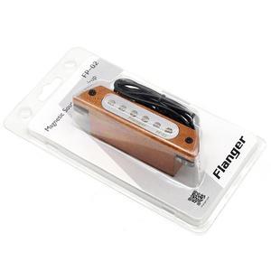 """Image 1 - Flanger acoustique Folk bois guitare son trou pick up magnétique Guitarra micros pour 39 """"/40""""/41 """"/42"""" accessoires guitare FP 02"""