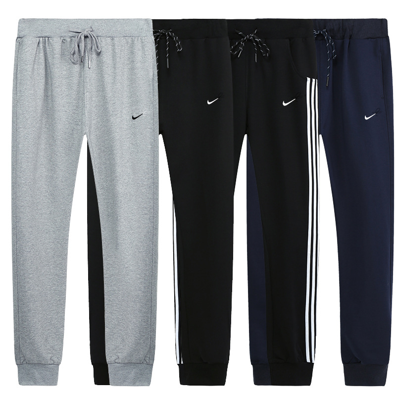 Spring And Autumn And Winter New Couple Sports Trousers Men's Cotton Student Pants Women's Feet Feet Pants