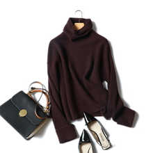 Shuchan Women Winter Top 2018 New Korean Sweater Turtleneck Ladies Loose Knitted Cashmere 100 Femme Pullover