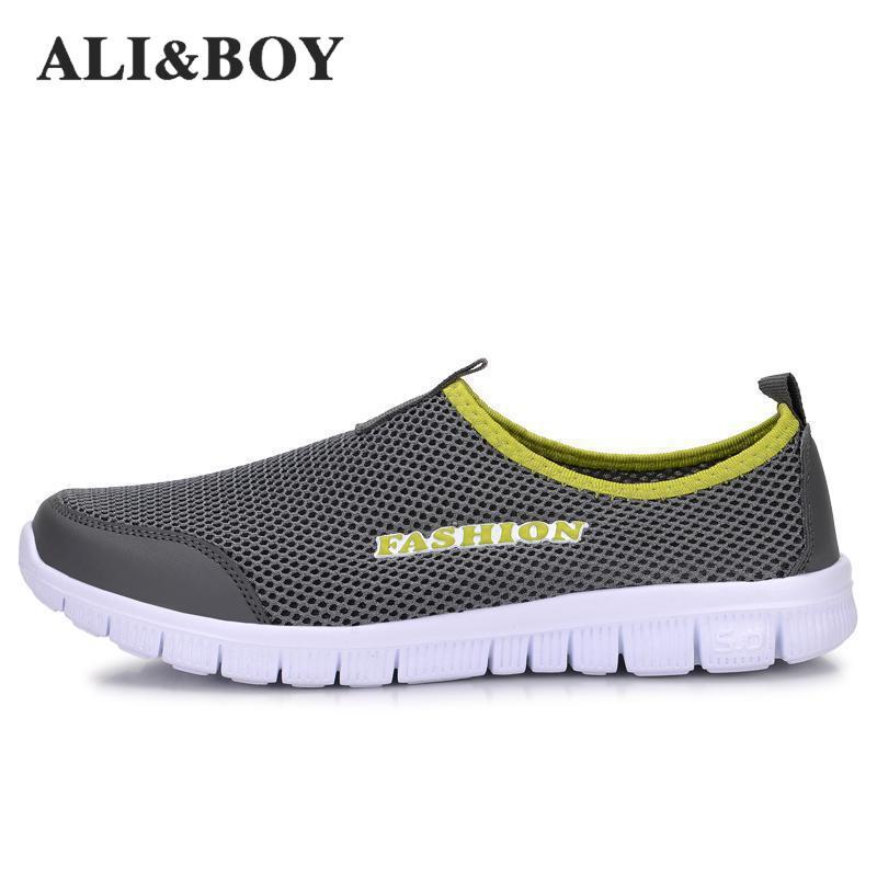 ALI BOY New Men Women Light Mesh Running font b Shoes b font athletic Sport font