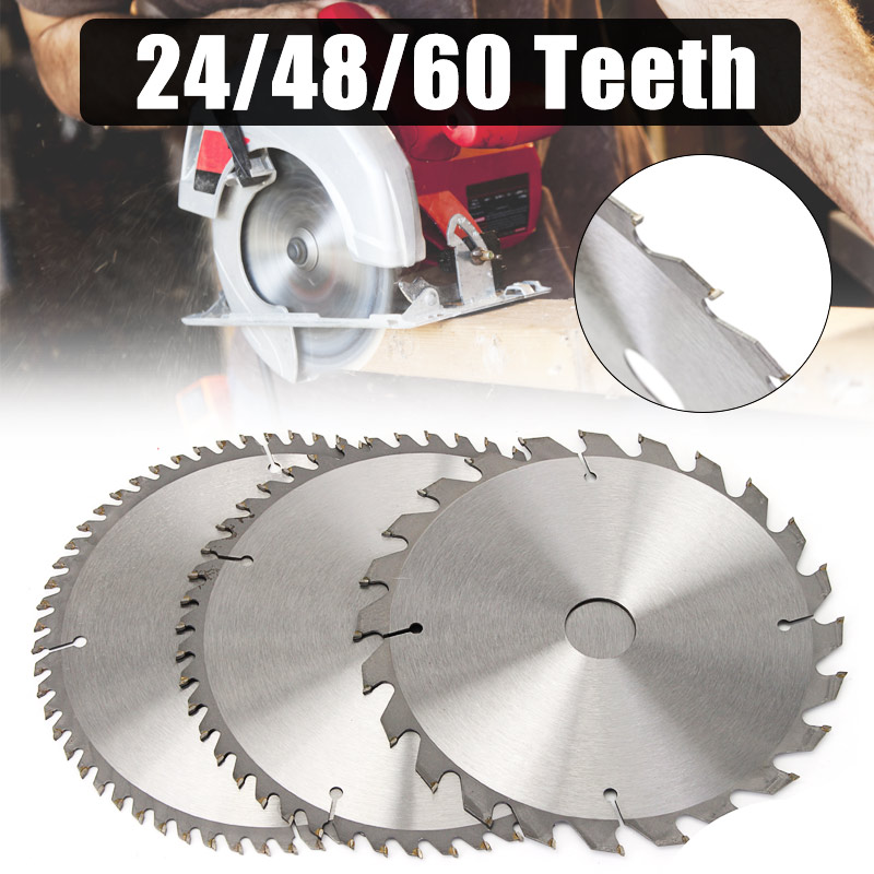 Doersupp 3pcs 210mm Circular Saw Blades Set 24/48/60 Teeth 30mm Bore Diameter Saw Blades TCT For Hardwood Softwood Chipboards