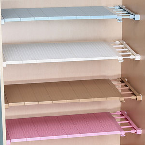 Image 1 - Adjustable Closet Organizer Storage Shelf Wall Mounted DIY Wardrobe/Clothes/Kitchen Storage Holders Racks Plastic Layer/Dividers