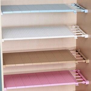 Image 1 - Étagère de rangement ajustable pour armoire/vêtements/cuisine rangement, organiseur de placard, couche en plastique supports étagères de diviseurs