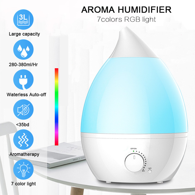 Meling Aroma Essential Oil Diffuser Ultrasonic Mist Humidifier Air