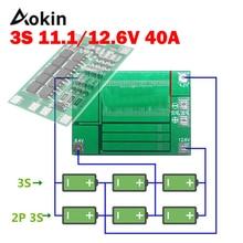 3S 40A BMS 11.1V 12.6V 18650 بطارية ليثيوم لوح حماية مع تعزيز/نسخة متوازنة للحفر 40A حالي لتقوم بها بنفسك عدة Aokin
