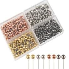 400pcs/set fashion Sewing Needles Metallic plastic safety pin ball needle cork office fixed knitting needles wedding AQ036
