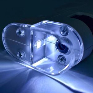 Image 5 - ユニバーサル 40 60X/80 120X 携帯電話顕微鏡ジュエリー識別調整可能なレンズズーム携帯クリップ led ライト 025