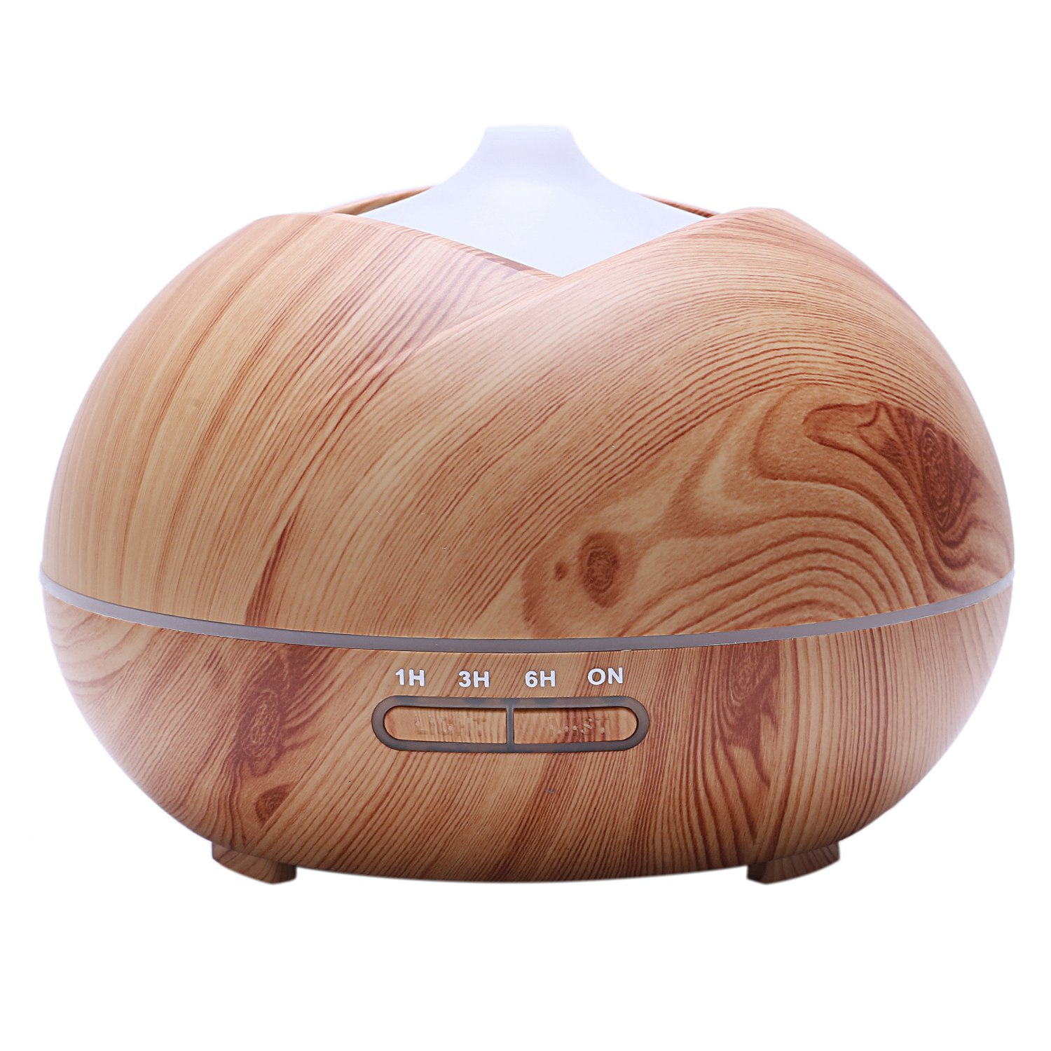 EAS-400Ml Aromatherapy Essential Oil Aroma Diffuser With Wood Grain 7 Color Led Lights For Home Mist Mak