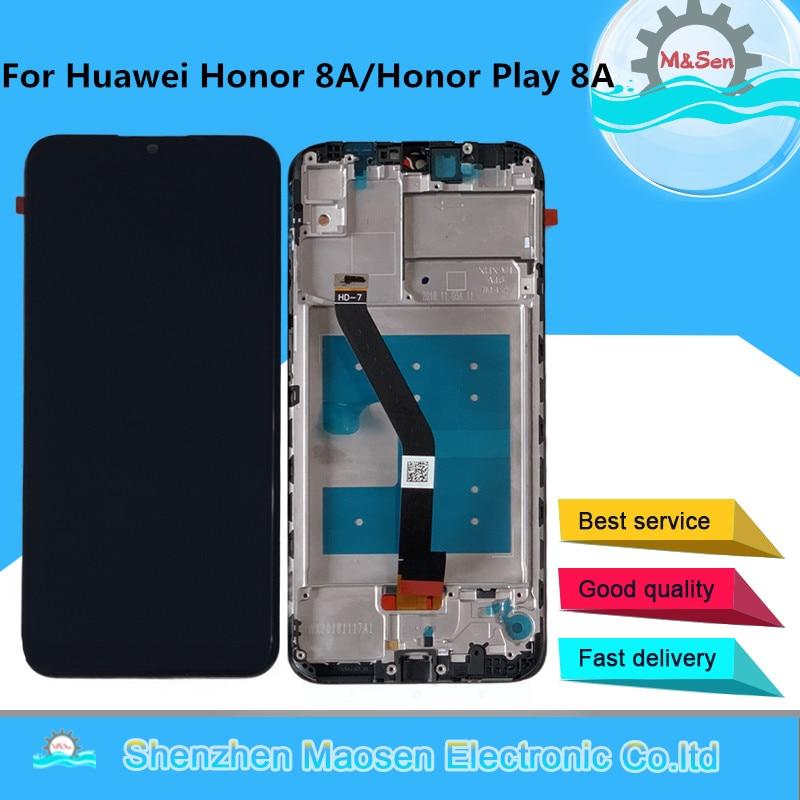 M & sen original para huawei honor play 8a JAT-L29 JAT-L09 display lcd quadro da tela + painel de toque digitador para honra 8a pro JAT-L41