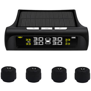 Wireless Tire Pressure Monitor Alarm System Car TPMS Real-time Monitoring Solar