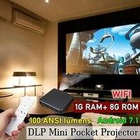 4 к/8 Гб HD bluetooth домашний проектор домашнего кинотеатра системы офисные Wi Fi DLP мини P оккет Android 7,1/4,0