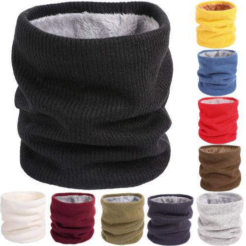 Soft Men Women Scarf Winter Warm Cotton Scarves Plush Neck Ring Knitted Collar Bandanas New